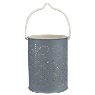 Orla Kiely Linear Stem Grey Tealight Lantern