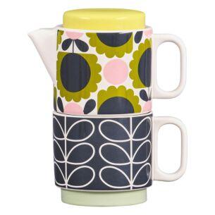 Orla Kiely Scallop Flower Linear Stem Forest Tea for One