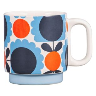 Orla Kiely Scallop Flower Sky Individual Mug