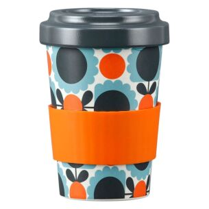 Orla Kiely Scallop Flower Sky Blue Bamboo Travel Cup