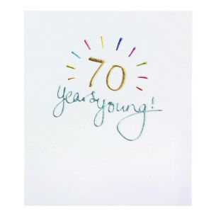 Mimosa 70th Birthday Card