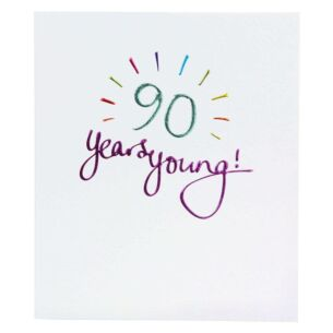 Paperlink Mimosa 90th Birthday Card