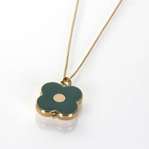 Gold-Plated Flower Spot Abacus Necklace