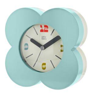 Sky Blue Flower Spot Alarm Clock