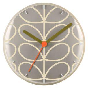 Pale Grey Linear Stem Wall Clock