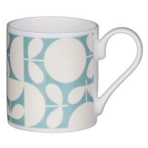 Aqua Patchwork Print Standard Mug