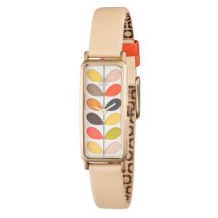 Orla Kiely Multi-Stem Watch with Cream Strap