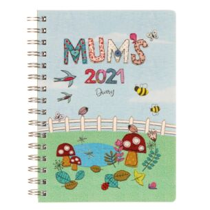 Mums Fabric 17 Month 2021 Family Desk Diary
