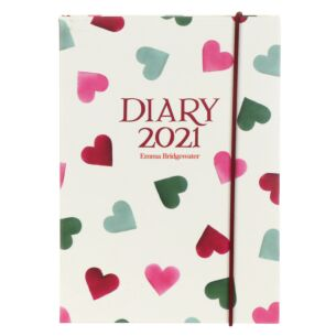 Pink & Green Hearts 2021 A6 Diary