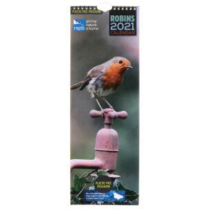 RSPB Robins 2021 Slim Calendar