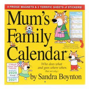 Mums Family Calendar 17 Month 2021 Wall Planner