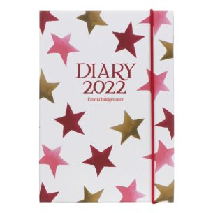 Pink & Gold Stars 2022 A6 Diary