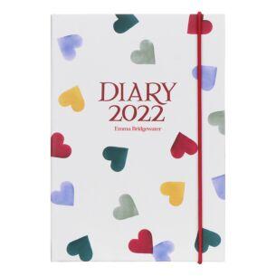 Polka Hearts 2022 A6 Diary