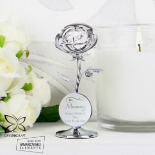 Personalised Swirls & Hearts Crystocraft Rose Ornament