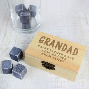 Drink Cooling Stones in Personalised Presentation Box