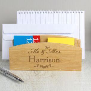 Personalised Mr & Mrs Wooden Letter Rack