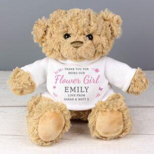 Personalised Girls Teddy Bear