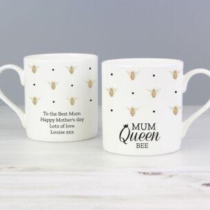 Personalised Queen Bee Balmoral Mug