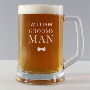 Personalised Groomsman Pint Stern Tankard