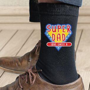 Personalised Super Dad Men's Socks