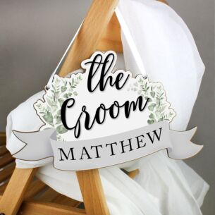 Personalised 'The Groom' Wooden Hanging Decoration