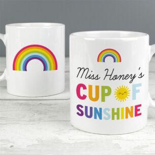 Personalised Rainbow 'Cup of Sunshine' Mug
