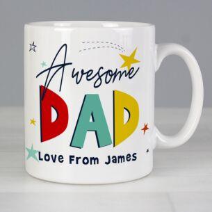 Personalised Awesome Dad Mug