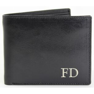 Personalised Black Initials Wallet