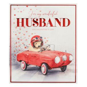 'Car' Husband Valentine's Day Card