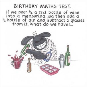 Funny Farm Birthday Maths Test Card