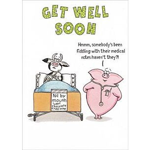 Funny Farm Get Well Soon Card