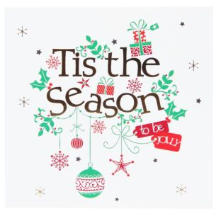 Tis The Season Pack of 6 Christmas Cards Charity Pack