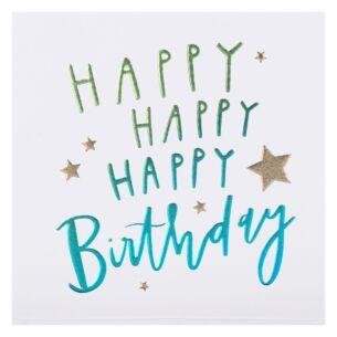 Cloud Nine 'Happy Happy Happy' Birthday Card