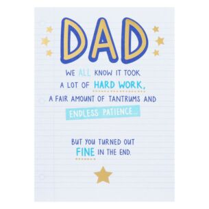 Just Saying 'In The End' Father's Day Card