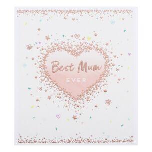 'Best Mum' Heart Mother's Day Card