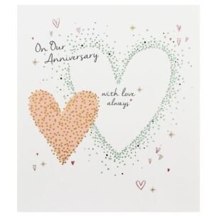 Amaretto 'Our Anniversary' Hearts Greetings Card