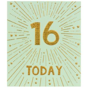 Firecracker 16th Birthday Card