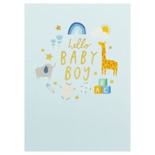 First Chapter 'Hello Baby Boy' Card