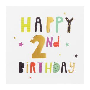 High Five 2nd Birthday Card
