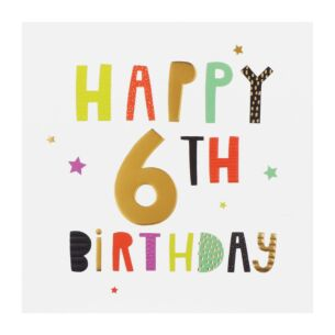 High Five 6th Birthday Card