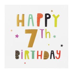 High Five 7th Birthday Card