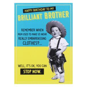 Jitterbug Brother Birthday Card