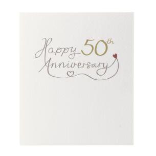 Mimosa 'Happy 50th Anniversary' Card