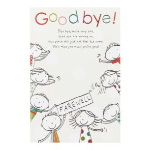 Tinklers 'Goodbye!' Leaving Card