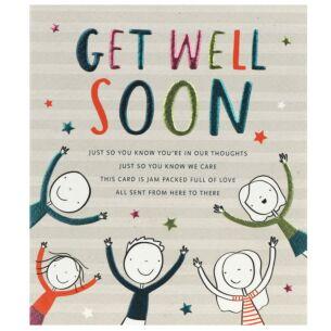 Tinklers 'Get Well Soon' Greetings Card