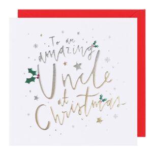 Cloud Nine Uncle Christmas Card