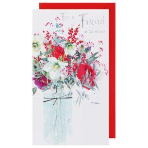 Celeste Friend Floral Christmas Card