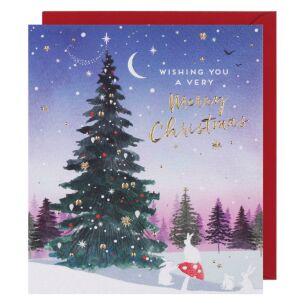 Crystallina Christmas Tree Christmas Card
