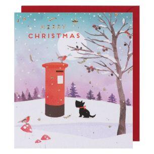 Crystallina Post Box Christmas Card