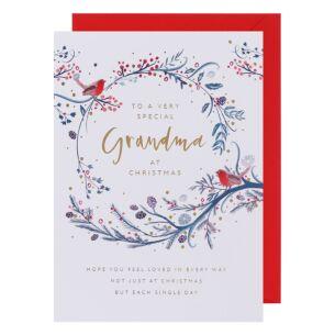 Joy Grandma Christmas Card